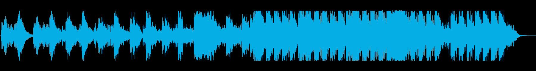 静謐な夜をイメージしたシンセ曲の再生済みの波形