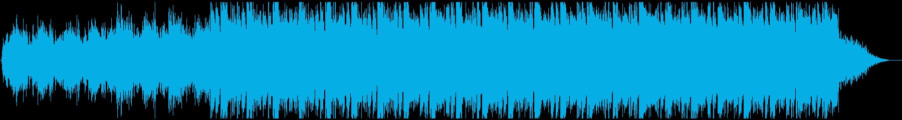 シンセが目立つ壮大な戦闘BGMの再生済みの波形