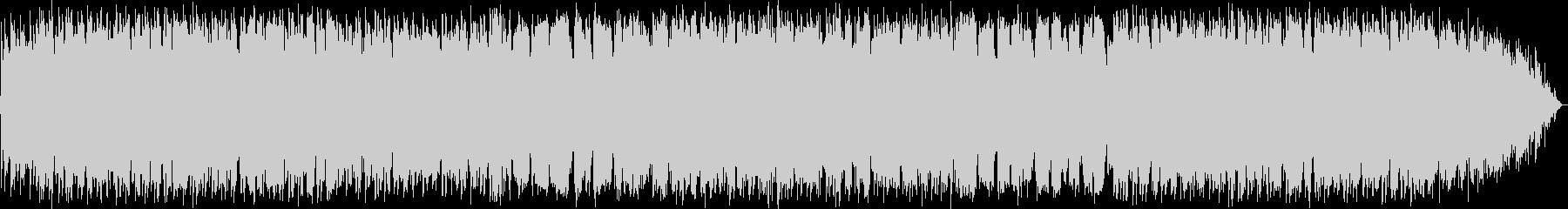 生演奏のケーナのメロディのヒーリング音楽の未再生の波形