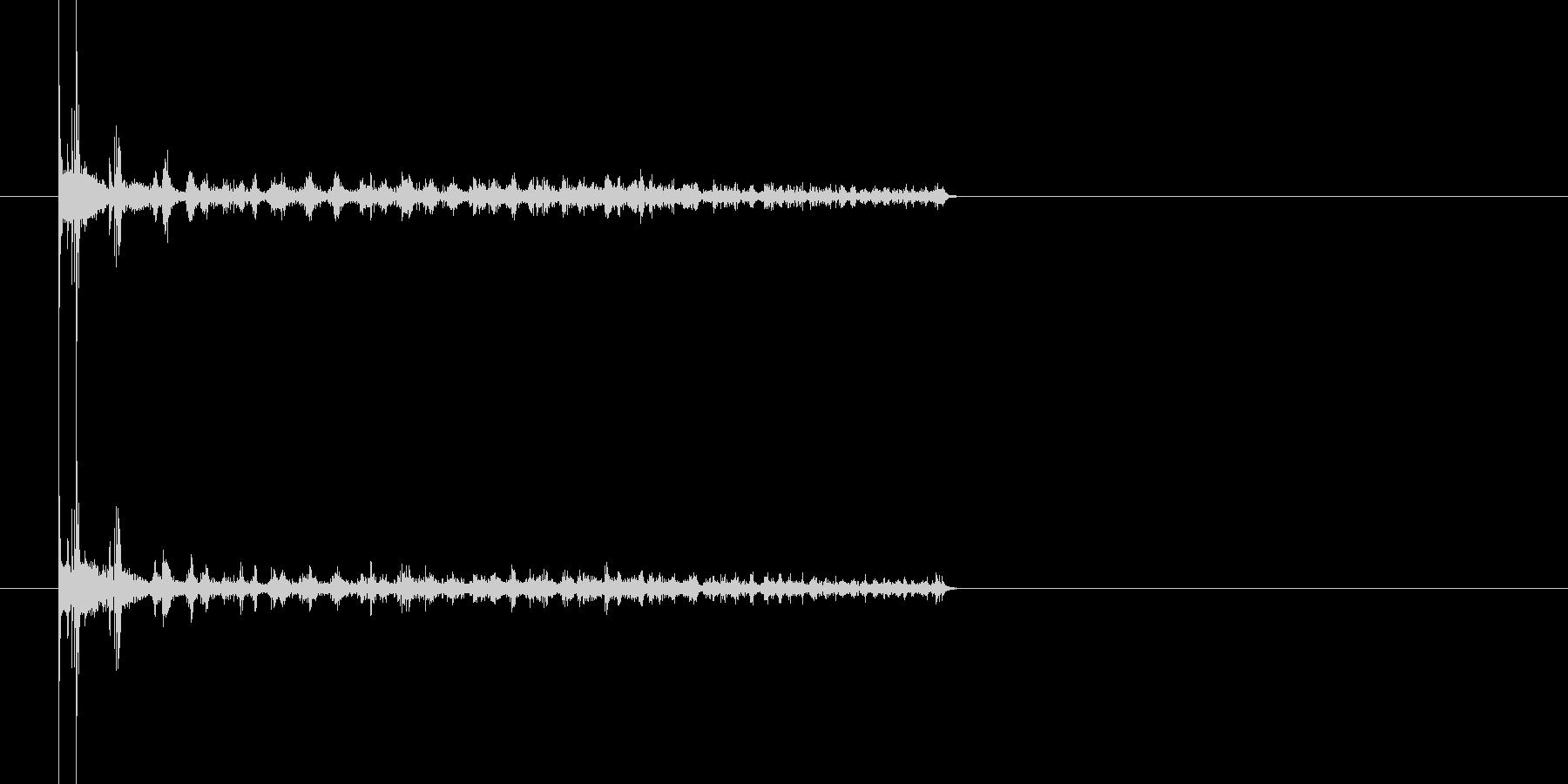 2つのコインが同時に回ってクルクル〜の未再生の波形