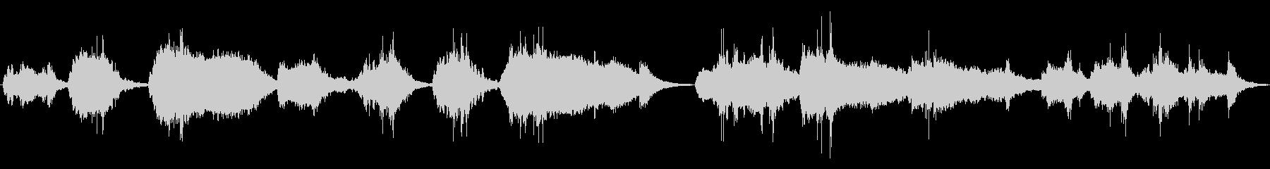 奇妙で緊張感のあるアンビエント音楽の未再生の波形