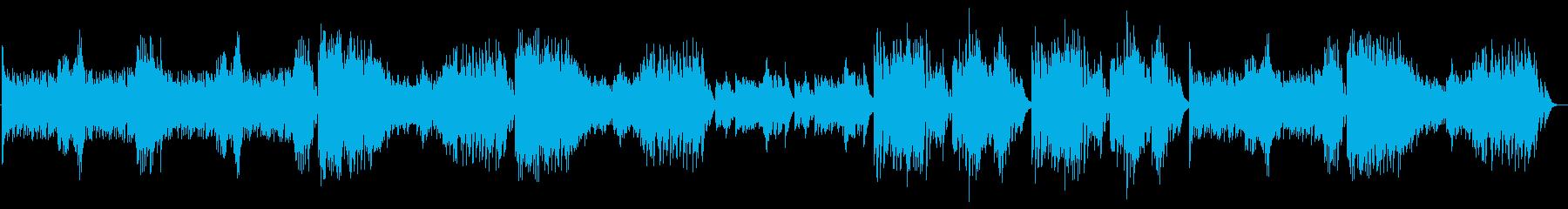 クイズやパズルにぴったりのピアノ曲の再生済みの波形
