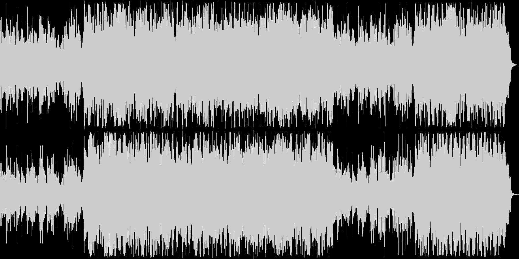 ピアノの音色が心地よい優しいバラードの未再生の波形