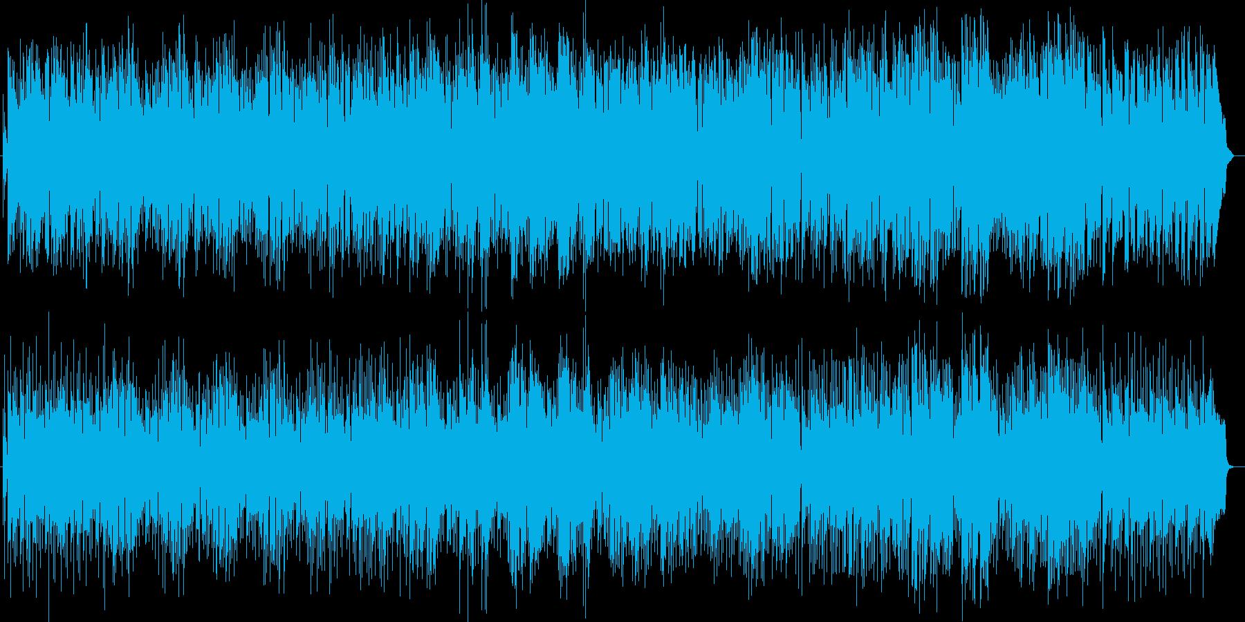 ゆったりリゾート感のあるピアノサウンドの再生済みの波形