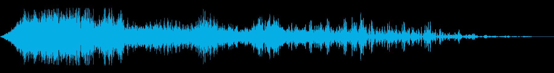 細いスワイプ1の再生済みの波形