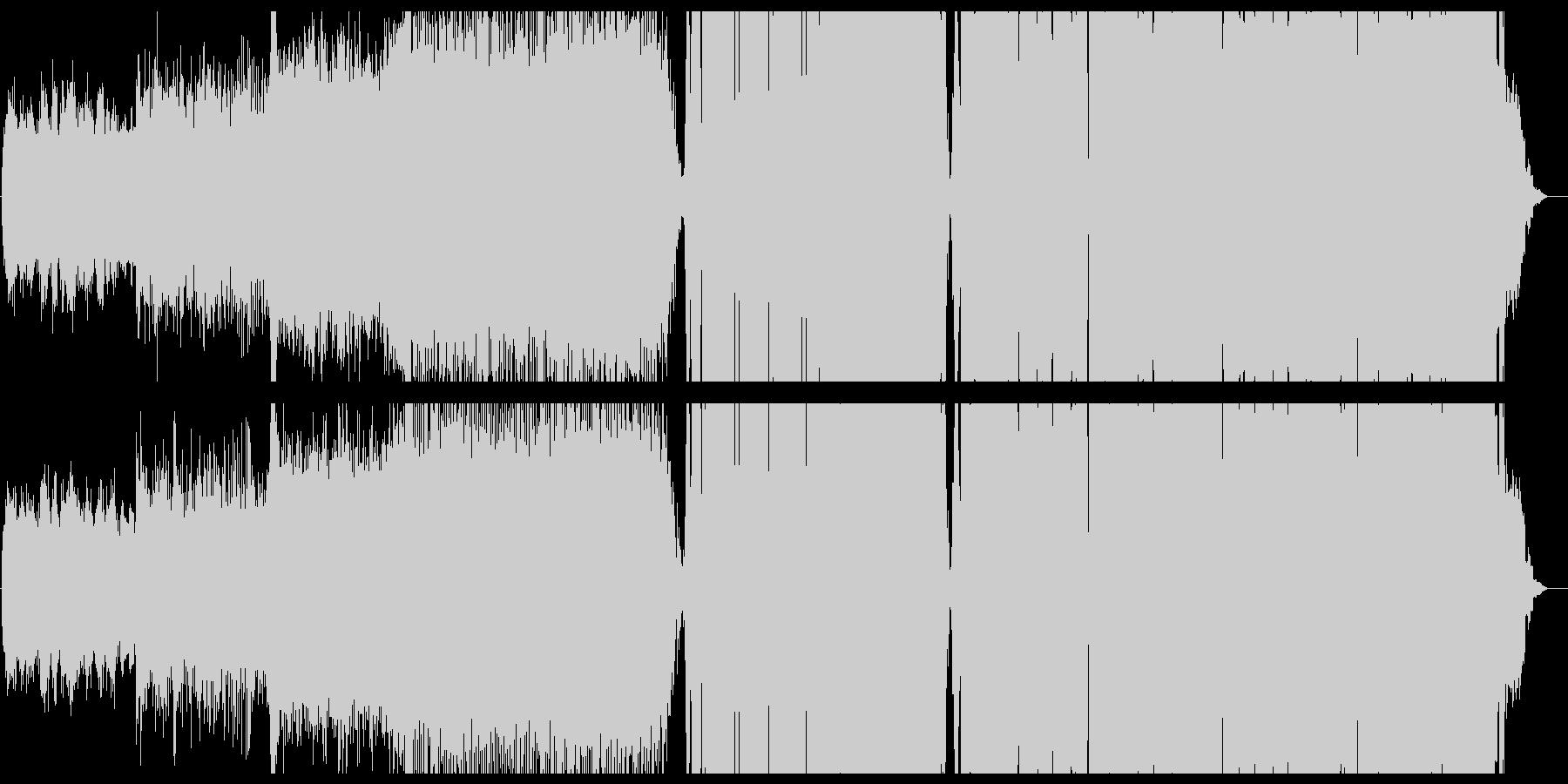 激しいリズムに乗った壮大なテクノポップの未再生の波形