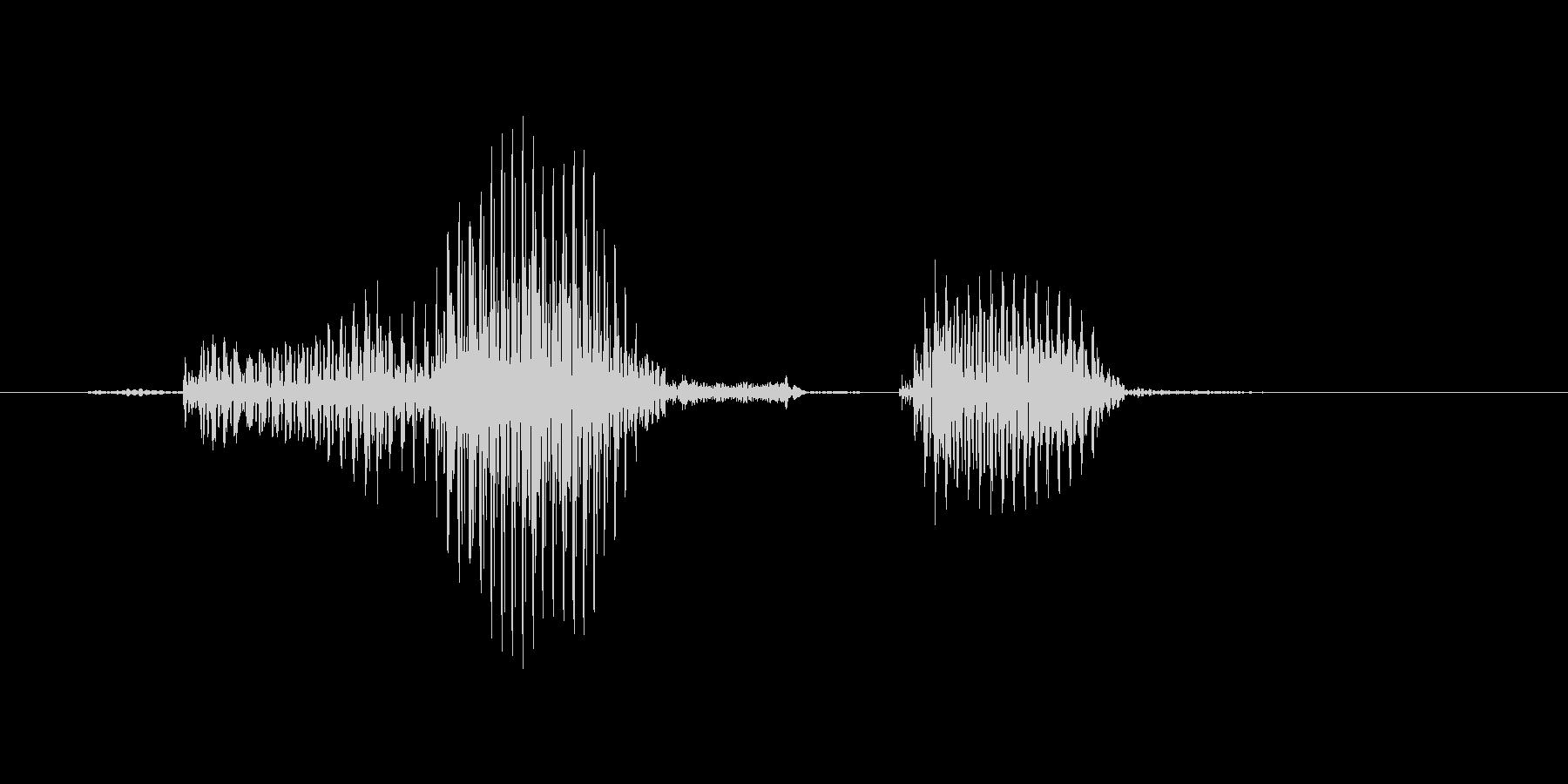 ドラフトの未再生の波形
