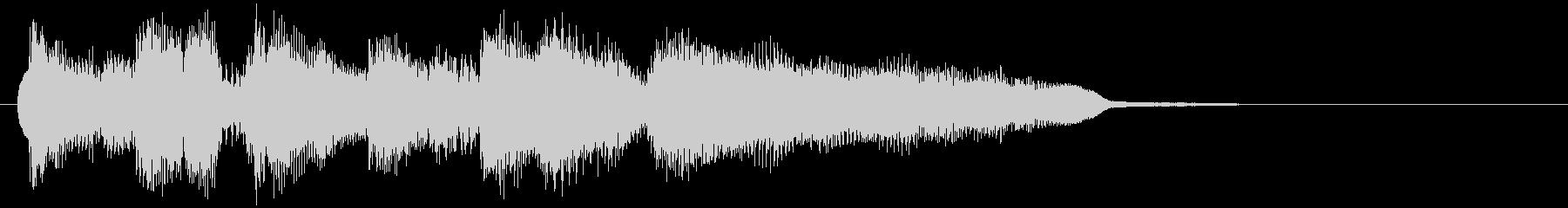 ソプラノサックスのボサノバサウンドロゴの未再生の波形