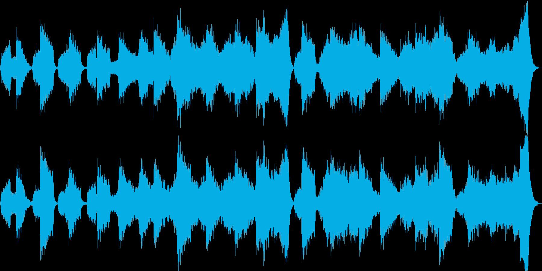 暗く不吉なサスペンス風サウンドの再生済みの波形