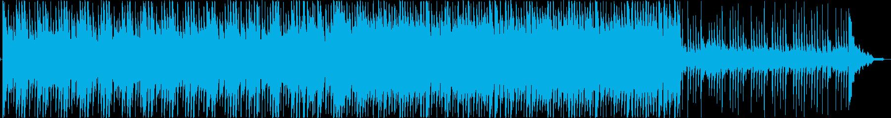 リズミックなポップテイストBGMの再生済みの波形