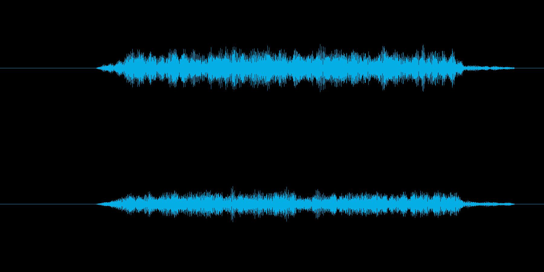 天に召されていく様なイメージ音の再生済みの波形