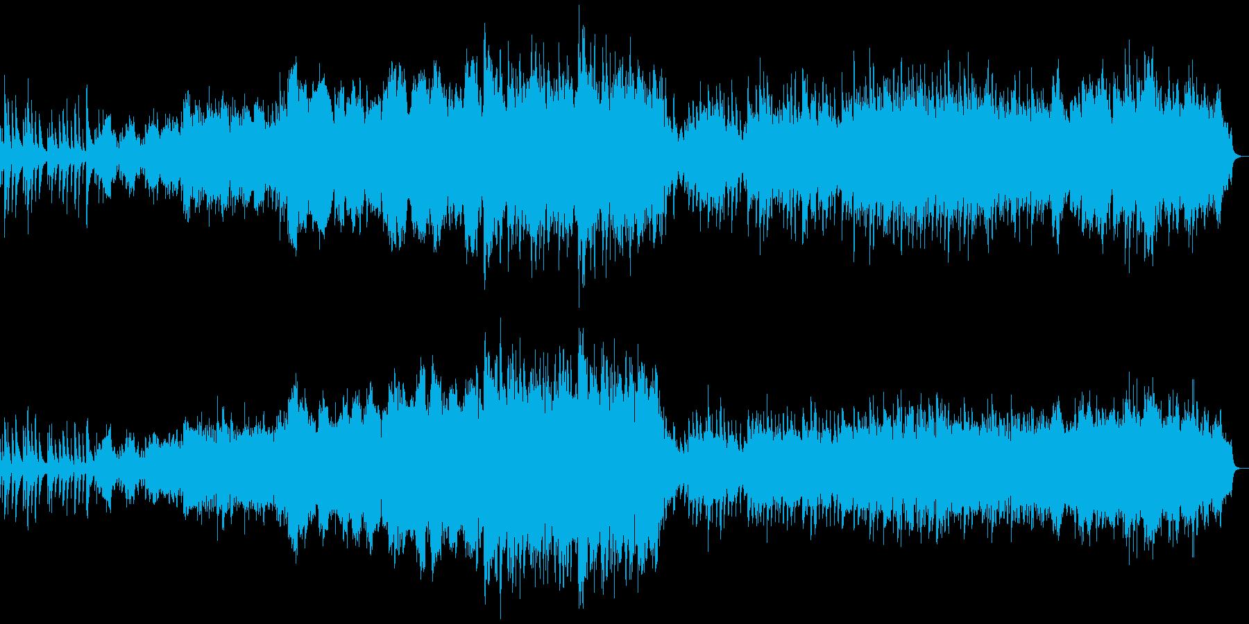 ピアノとオーケストラの柔らか~切ない曲の再生済みの波形