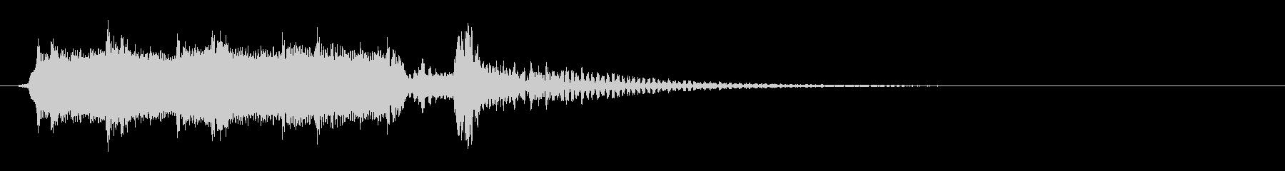 篠笛と太鼓のアンサンブル和風ジングルの未再生の波形