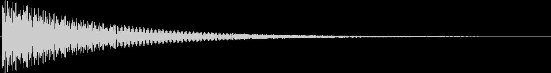 電子ブザートレイルまたは警告音の未再生の波形