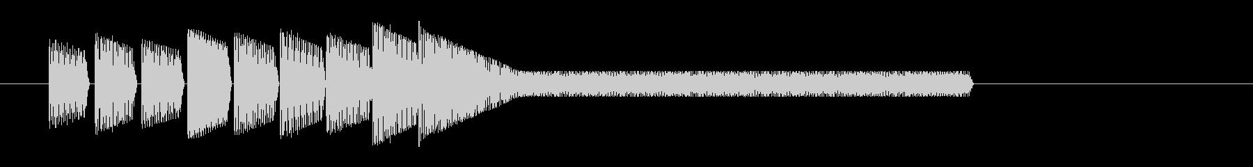 レトロゲーム風・中華風ジングル3の未再生の波形