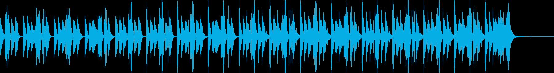 CM、軽快でほのぼのかわいい30秒の曲の再生済みの波形