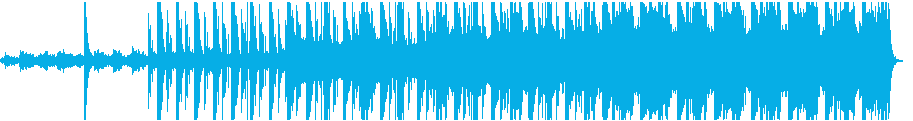 ホラー用 暗く重たいストリングスの再生済みの波形
