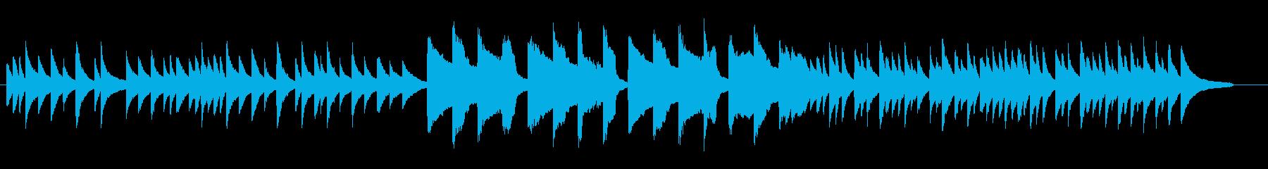 ピアノとクラリネットによる落ち着いた曲の再生済みの波形