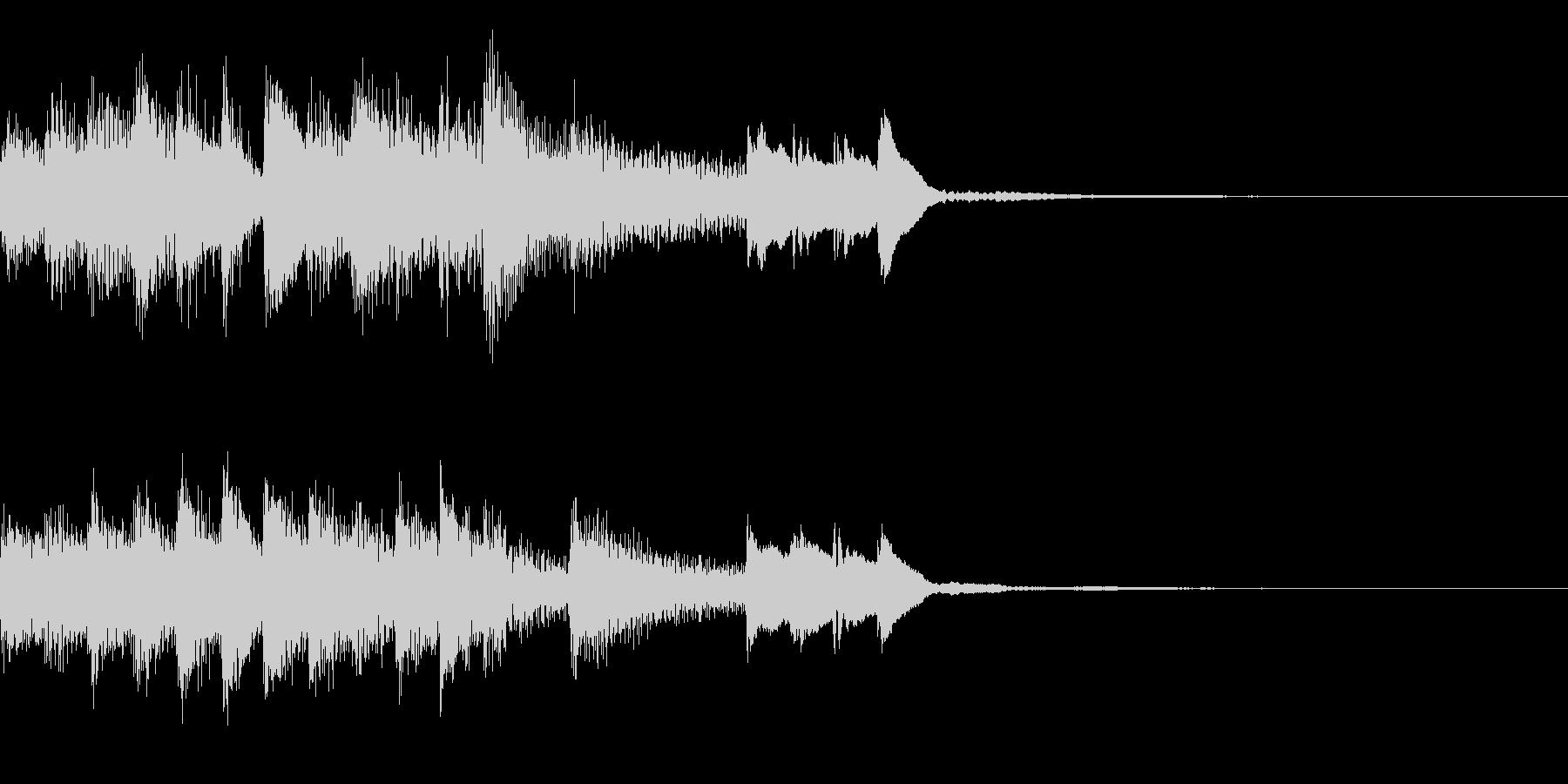 明るいピアノのジングルの未再生の波形