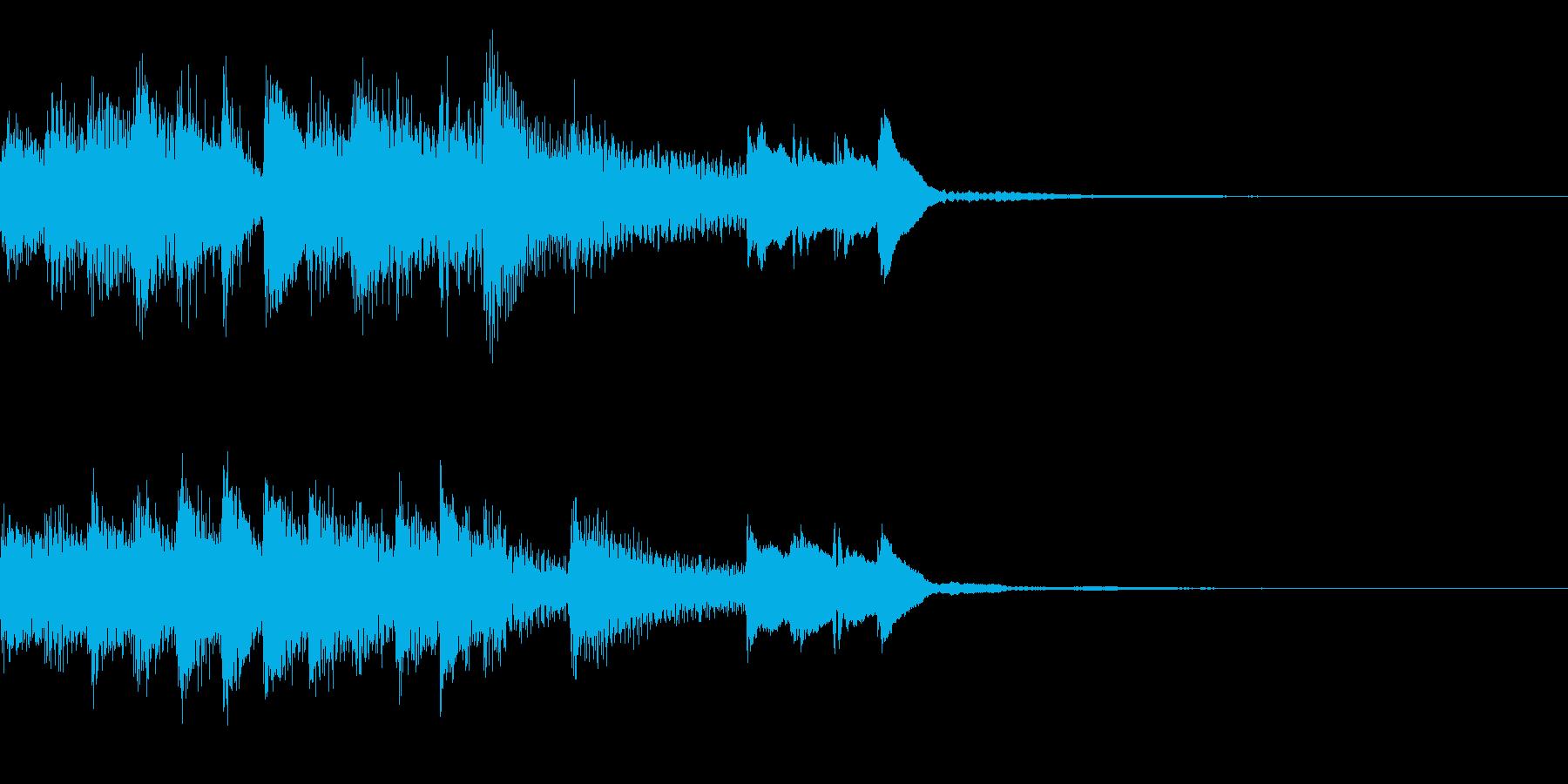 明るいピアノのジングルの再生済みの波形
