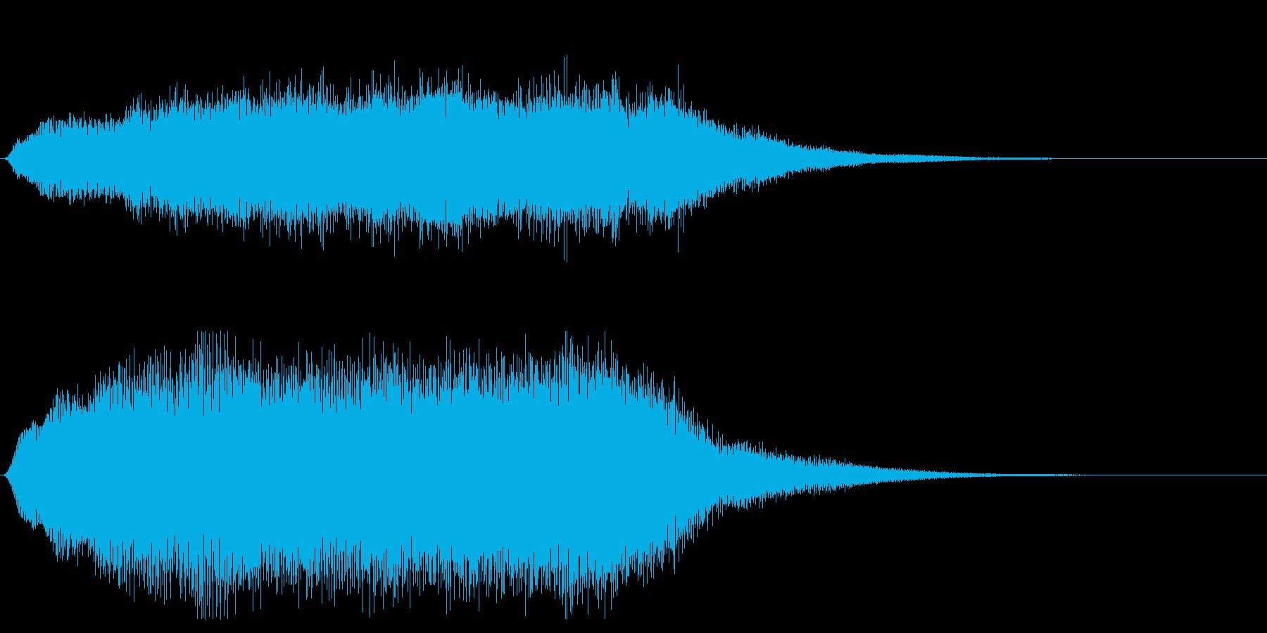 ホラー系効果音_パイプオルガンの再生済みの波形