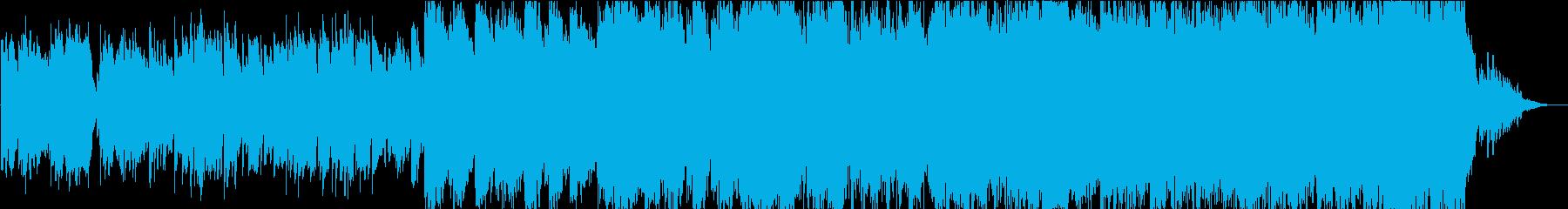目覚めの朝のケーナの音楽の再生済みの波形