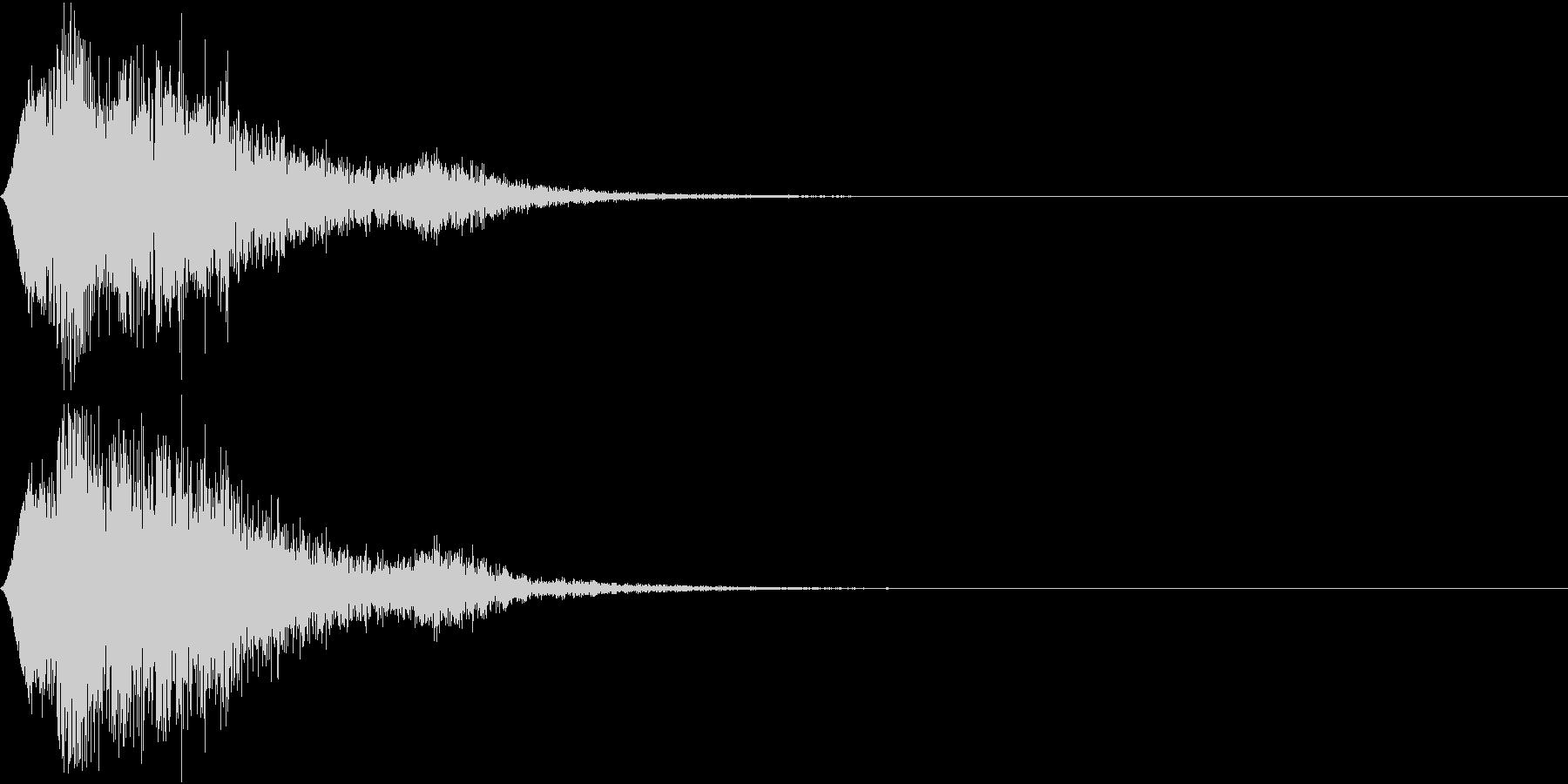 操作音の未再生の波形