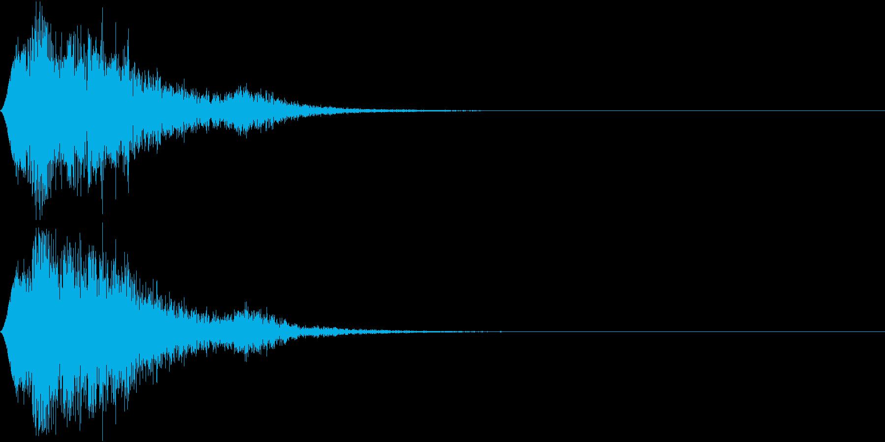 操作音の再生済みの波形