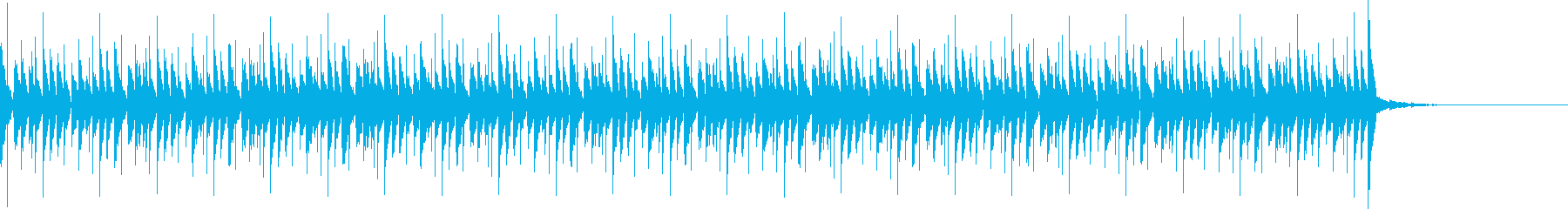 少し無機質でほのぼのとしたBGMの再生済みの波形