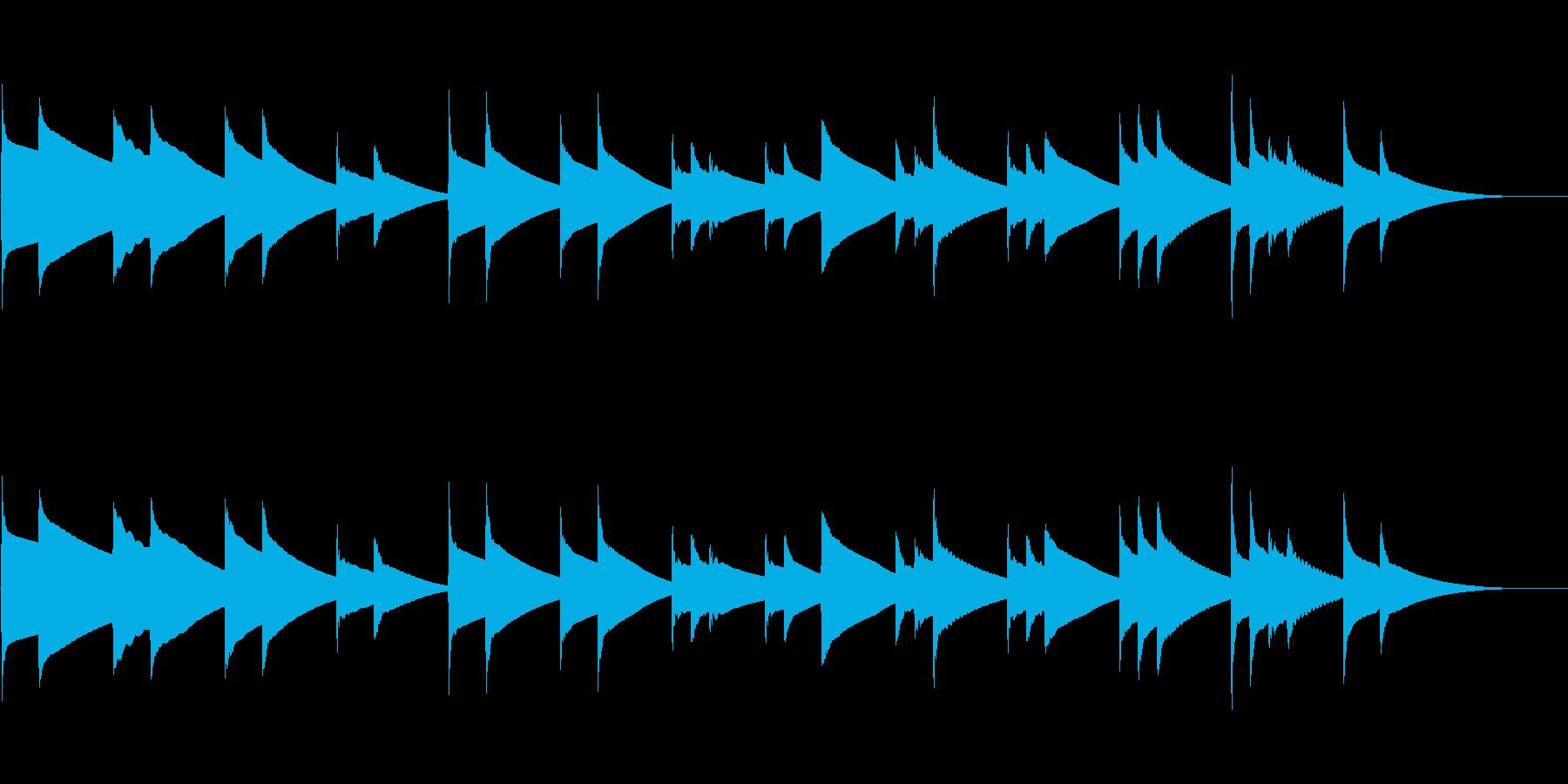 (約30秒)哀愁漂うチェレスタ曲単音のみの再生済みの波形
