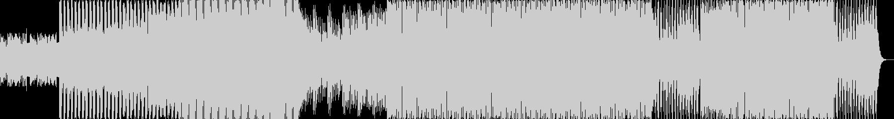 優しいメロディのエレクトロニカの未再生の波形