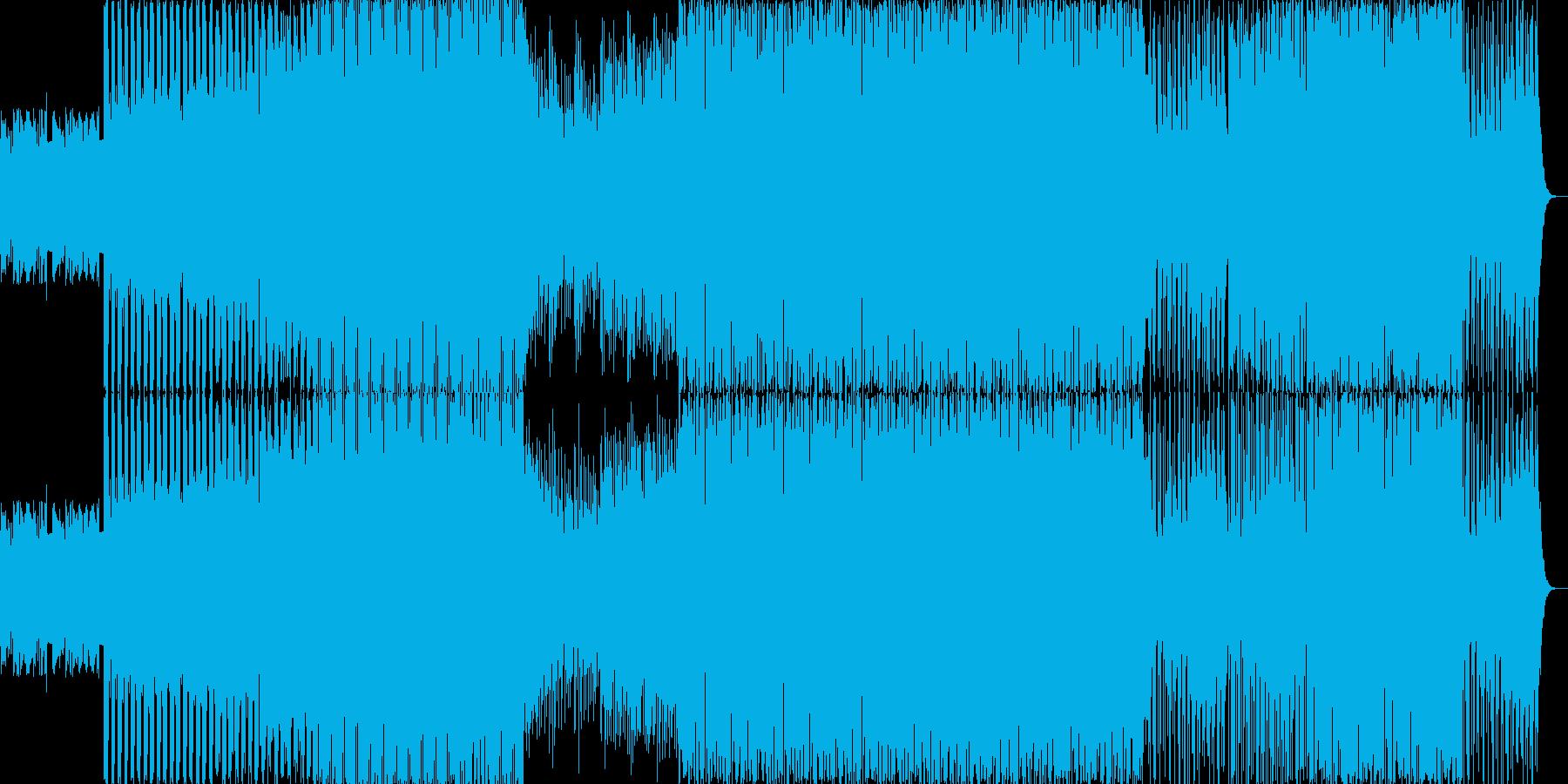 優しいメロディのエレクトロニカの再生済みの波形