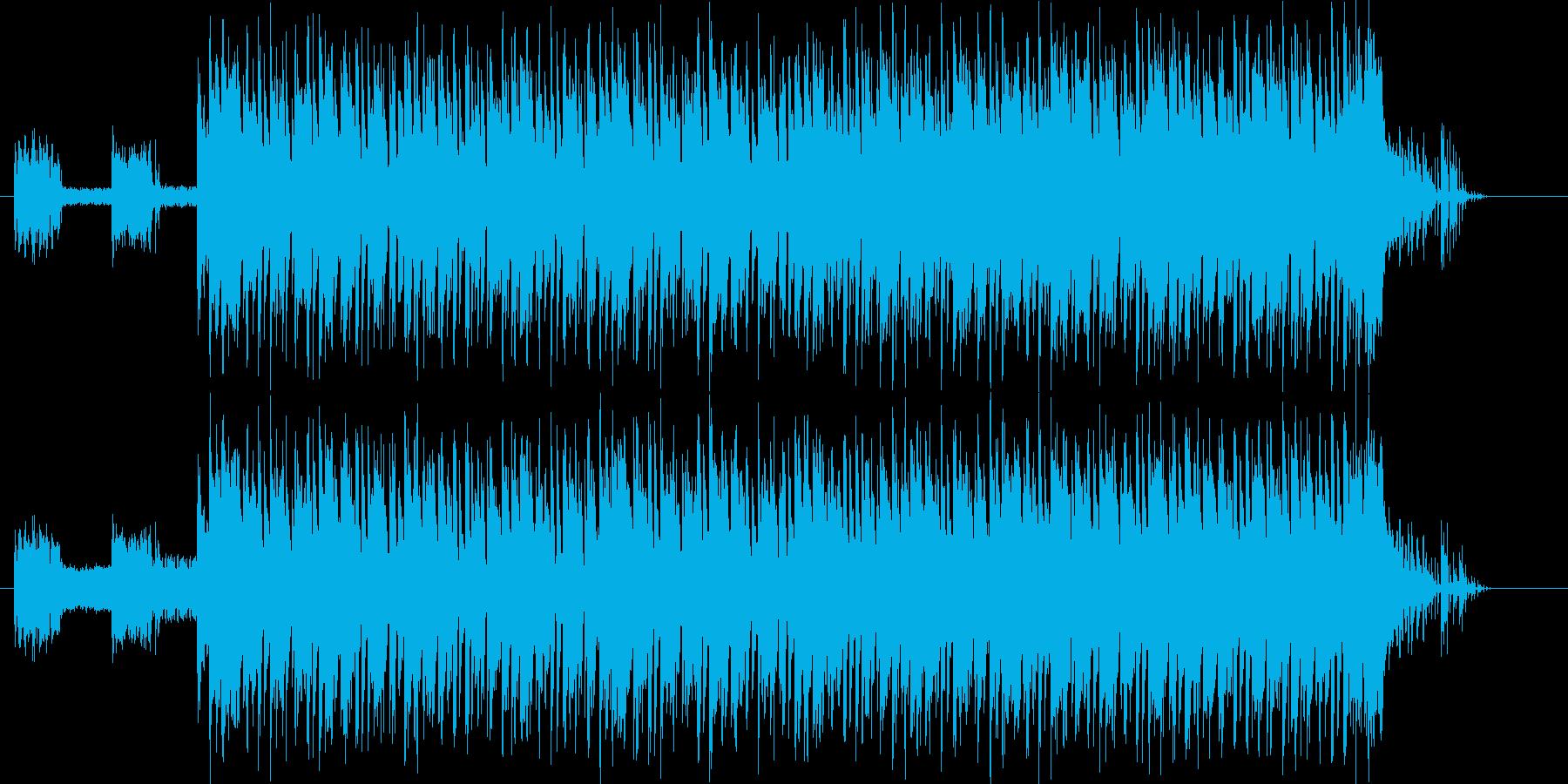元気がありコミカルな雰囲気のテクノの再生済みの波形