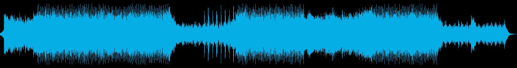 篠笛を使った元気で明るい和風EDMの再生済みの波形