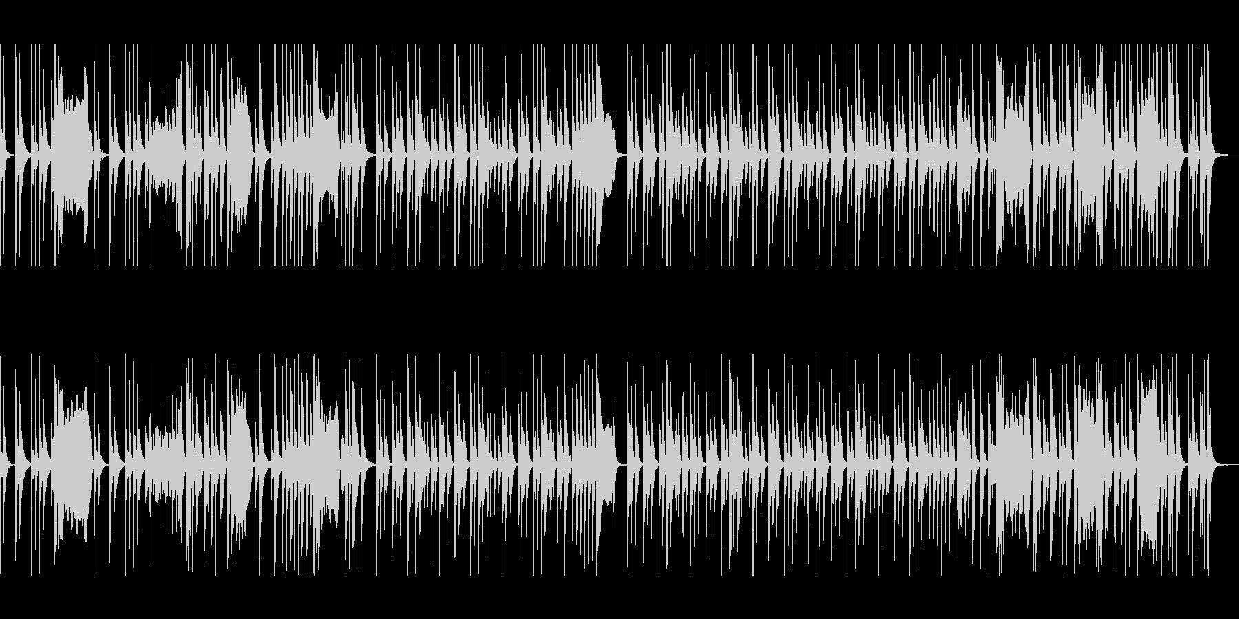 マリンバのコミカルで可愛いメロディの未再生の波形