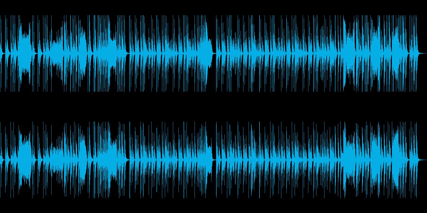 マリンバのコミカルで可愛いメロディの再生済みの波形