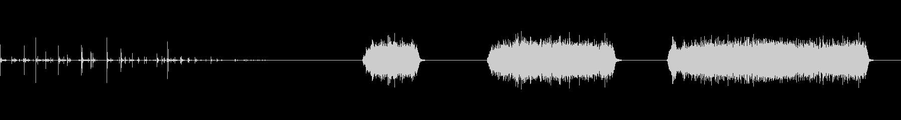 缶スプレーを振って塗装する音の未再生の波形