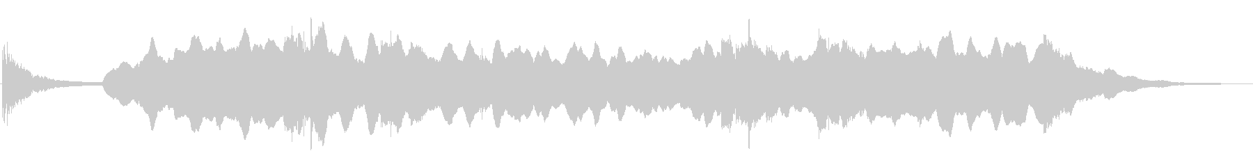 低音のパッド音の上でアンビエントなアコギの未再生の波形