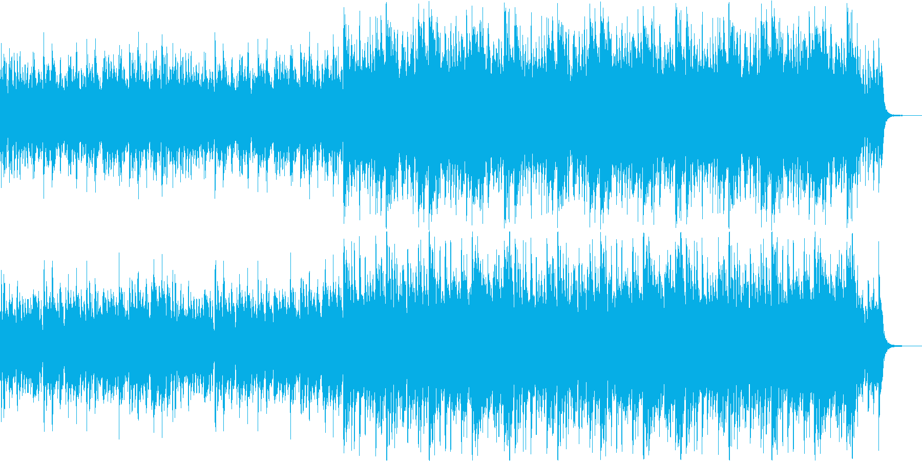 情熱的なサウンドの再生済みの波形