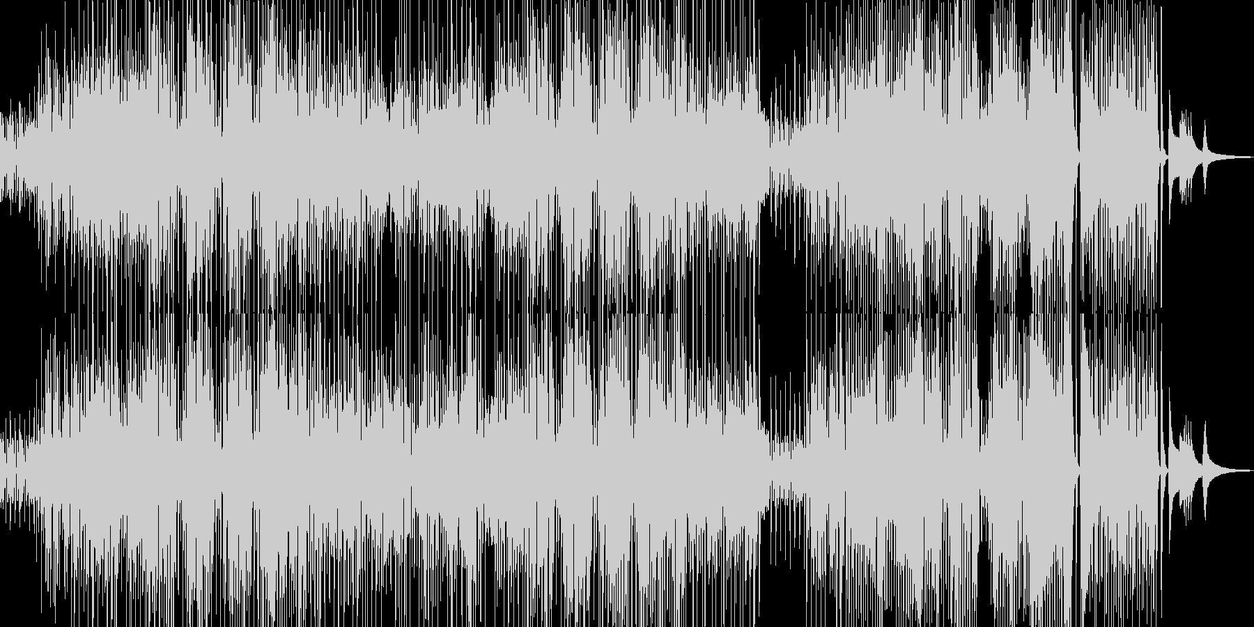 コミカルでユーモラスなジャズの未再生の波形
