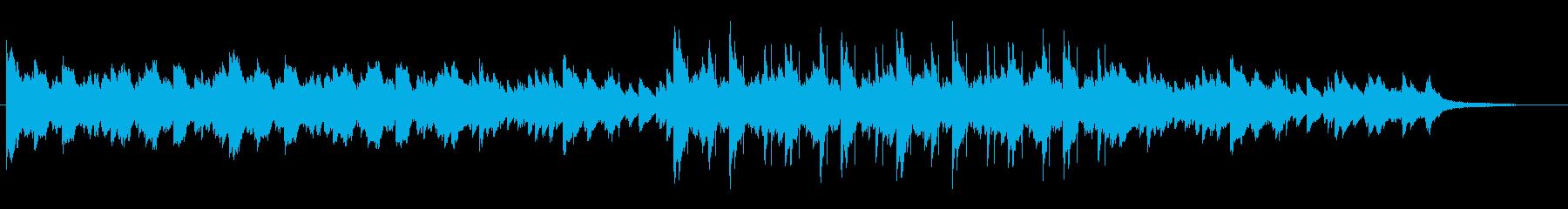 静けさのあるピアノバラードBGMの再生済みの波形