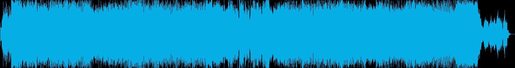 バトルアクションのゲームBGMのイメージの再生済みの波形