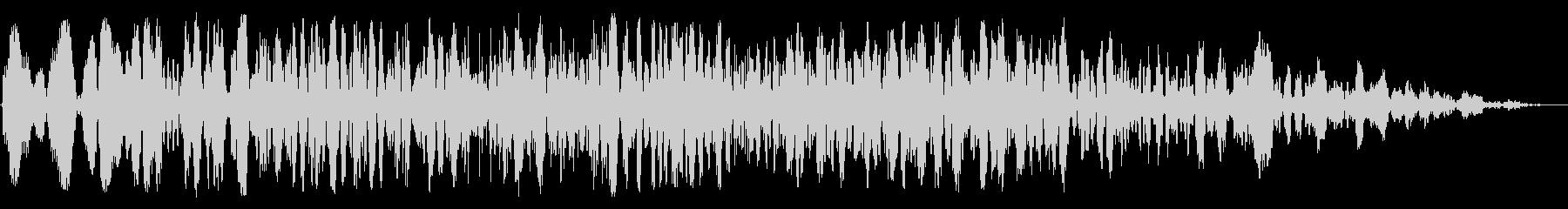 ゴゴゴッ(爆弾系の音)の未再生の波形
