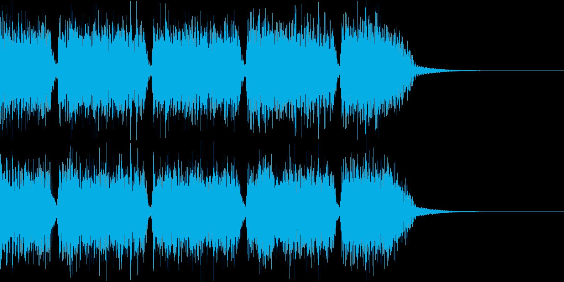 エネルギッシュ・ロックなサウンドロゴ02の再生済みの波形