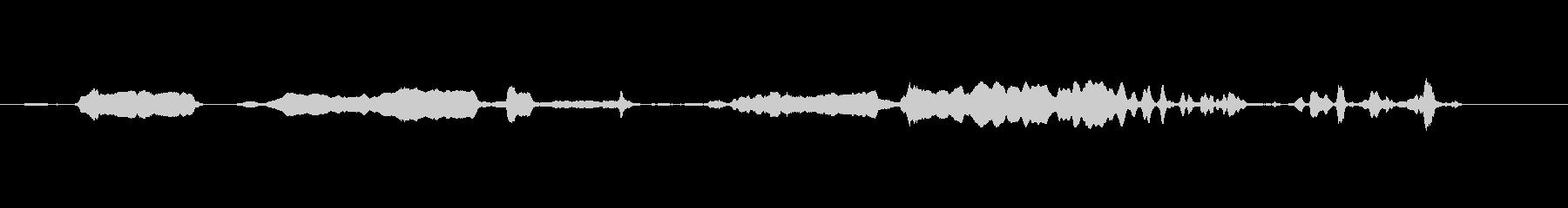 摩擦金属、低音-遅いの未再生の波形