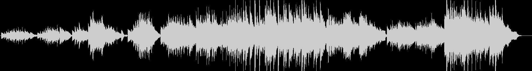 分岐点に立った時のピアノソロの未再生の波形