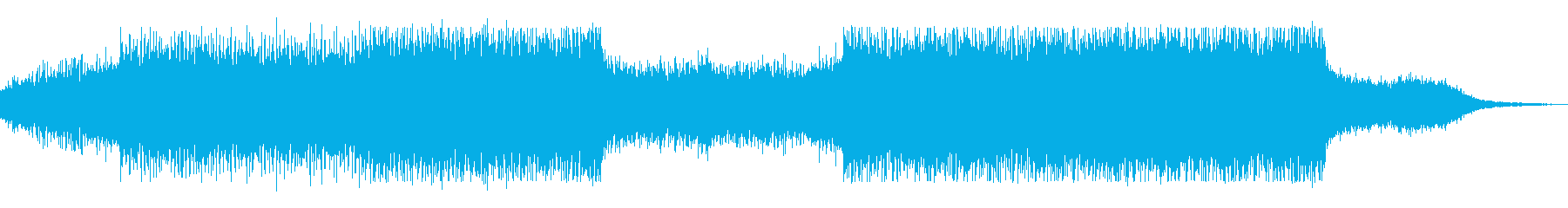 bpm140シンプルで地味なテクノの再生済みの波形