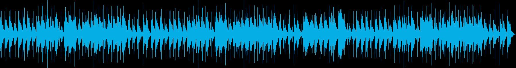 退廃的な雰囲気の曲の再生済みの波形