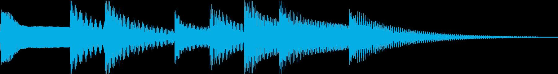 シンプルベル お知らせ ハテナ ? 27の再生済みの波形
