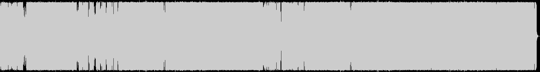 アップテンポなロックの未再生の波形